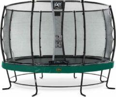 Exit Elegant Premium Trampoline Met Veiligheidsnet Rond Deluxe - 366 Cm - Groen