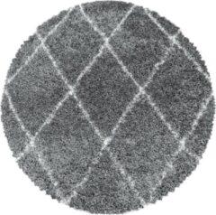ALVOR SHAGGY Himalaya Harmony Soft Shaggy Rond Hoogpolig Vloerkleed Grijs- 200 CM ROND