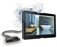 "Aquasound Exclusive opbouw led tv 27"" dvb-c / dvb t/ dvb-t2,hdmi-cec Zwart ASV2770X"