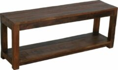 Bruine Raw Materials Factory Halbank - Schoenenrek - 116x30x45 cm - Gerecycled hout