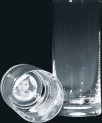 3D Foto Benelux Longdrinkglas met eigen foto !