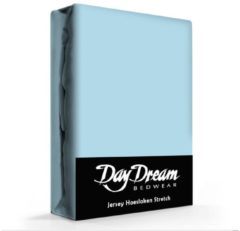 Blauwe Day Dream Jersey Hoeslaken Ice-Blue-190 x 220 cm