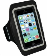 Transparante Colorfone Sport Armband voor Apple iPhone 6 Plus / 6S Plus Zwart
