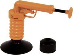 Oranje Drain Buster Gootsteenontstopper + Extra Opzetstuk