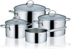 Zilveren Pannenset 4-delig - RVS - Kela   Cailin