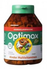 Optimax Kinder Multi vanille- 180 Kauwbeertjes - Multivitamine