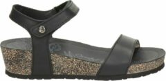 Zwarte Panama Jack Capri Basics Dames Sandaal - Black - Maat 42