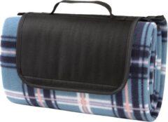 Picknickmand Picknickkleed - 150x125 - waterdicht - geruit - blauw