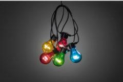 Konstsmide 2372 - Feestverlichting - 5 lamps transp 40 LED zeer energiezuinig - 200 cm - op batterij - voor buiten - multicolor