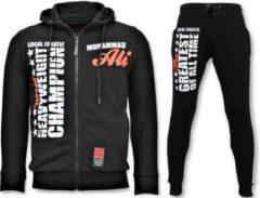 Local Fanatic Exclusieve Heren Joggingpak - Muhammad Ali Sport Set - Zwart - Maat: M
