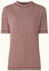 Bordeauxrode Scotch & Soda T-shirt van biologisch katoen met print