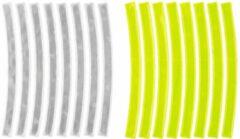 M-wave Reflecterende Stickers Wit + Geel 16 Stuks
