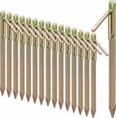 Gele Relaxdays 16 x grondpennen - grondanker - XL - staal - rotspennen – tentharingen
