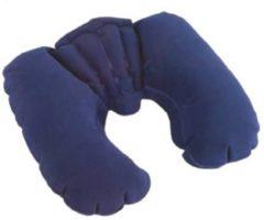 Blauwe Bavepa Confortabel Opblaasbaar Nekkussen ideaal voor het lange reizen - geschikt voor Hoofd Nek - Rug - Benen - of kussen slapen tussen uw benen - Viegtuig - Auto - Boot - Zwart- Grijs