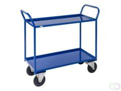 Kongamek Geheel gelaste Trolley blauw met rem