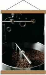 Grijze KuijsFotoprint Schoolplaat – Koffiebonenmachine - 30x40cm Foto op Textielposter (Wanddecoratie op Schoolplaat)