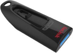 Zwarte Sandisk Cruzer Ultra, 16 GB, USB 3.0 16GB USB 3.0 (3.1 Gen 1) USB-Type-A-aansluiting Zwart USB flash drive