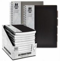 Verhaak Projectboek A4 23 Rings 120 Vel Zwart/Grijs