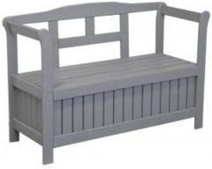 SenS-Line Pinokkio 2-persoons houten koffer tuinbank grijs