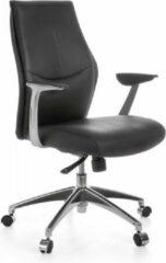 Zwarte Amstyle Bureaustoel - Ergonomische Bureaustoel - Lederen Directiestoel - Bureaustoelen Voor Volwassenen