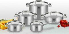 Zilveren ELO pannenset Limited Edition Premium 5-ply 5 delig