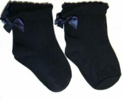 Marineblauwe IN ControL Multipack Meisjes Sokken - 27-30