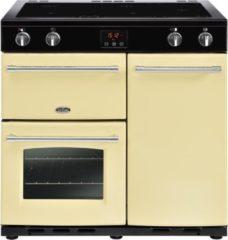 Creme witte Belling Farmhouse 90Ei Range cooker Zone van inductiekookplaat Crème