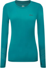 Blauwgroene Dhb Aeron FLT Womens Long Sleeve Run Top - Hardloopshirts (lange mouwen)