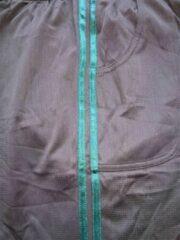 Trenas Strydom Crazee Wear - Fitnessbroek - Mesh Pant - Heren - Maat M - Zwart - met dubbele Hunter (donker groen) streep - MPP