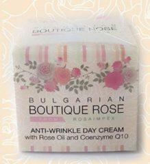 Rosa Impex Q10 Antirimpel / Anti- Rimpel / Anti-aging DAGCREME BOUTIQUE ROSE met ROZEN OLIE EN Q10 Zonder Parabenen 45ml d.d. 03-08-2022