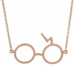 Goudkleurige Fashionvibe.nl® | Necklace Round Glasses Gold