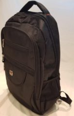 Merkloos / Sans marque Backpack zwart - Met laptopvak 4 vakjes