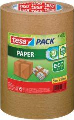 Tesa 55337-02-01 55337-02-01 Pakband tesapack Paper ecoLogo Bruin (l x b) 50 m x 50 mm 3 rol/rollen