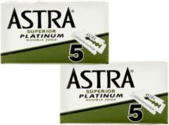 Astra Superior Platinum scheermesjes - Double Edge Blade - 2 doosjes van 5 scheermesjes = 10 Stuks