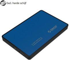 Blauwe Orico - Harde Schijf Behuizing 2,5 inch - HDD/SSD - USB3.0 - Metaal & Kunststof - Blauw