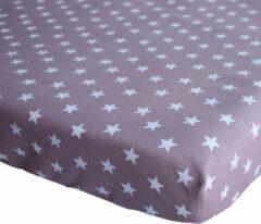 BINK Bedding Hoeslaken Stars Oudroze 1 persoonsbed 90 x 200 cm
