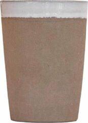Naturelkleurige Household Hardware Mokken - clay/wit - handgemaakt - set van twee