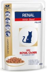 Royal Canin Veterinary Diet Renal Beef Wet - Kattenvoer - 12x85 g