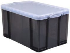 Really Useful Box opbergdoos 84 liter, transparant gerookt