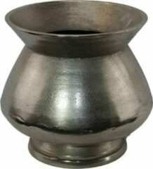 Zilveren Sense Aluminium vazen - Bloemvaas - Vaas ruw nikkel - Bloempotten - Vensterbank vaas- boeket vaas