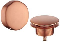 Wiesbaden Gemma knop/plug badoverloopcombinatie, geborsteld brons
