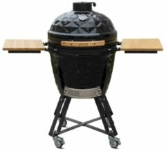 Outr Large Diamond 56 Kamado Barbecue met onderstel en side tables Donkergrijs