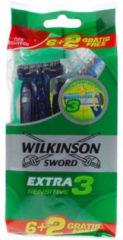 Wilkinson Men Wegwerpscheermesjes Extra 3 Sensitive 8 stuks