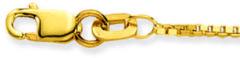 Goudkleurige Glow Gouden Lengtecollier 38 cm - Venetiaan - 1.1 mm breed