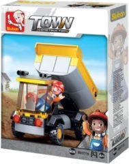 Sluban Bouwstenen Town Serie Kleine dumper Bouwstenen Town Serie Kleine dumper