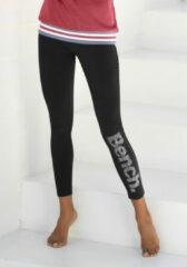 Zwarte Bench. legging met logoprint in metaal-look