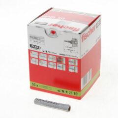 Groene Fischer FIS plug UX green, le 30mm, v/schr diam 3 - 4mm, boorgatdiepte 40mm