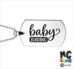 Zilveren MC Living Ketting RVS - Baby Loading