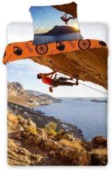 Blauwe Faro Sport dekbedovertrek - Sportivo - Bergbeklimmer - eenpersoons - 100% katoen