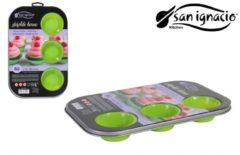 Groene San ignacio siliconen muffin set